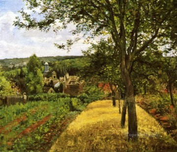 orchards at louveciennes 1872 Camille Pissarro scenery Oil Paintings